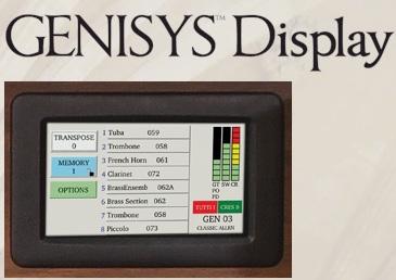 Genisys Display/Voices by Allen | Allen Organ Studios